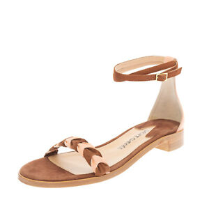 RRP€400 RACINE CARREE Suede Leather Ankle Strap Sandals EU 36 UK 3 US 6 Two Tone