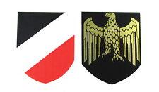 Helmabzeichen Stahlhelm Abziehbild Wasserlöslich Decal Wehrmacht Marine