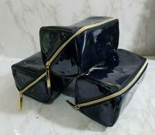 LANCOME SHINY NAVY BLUE OUI! MAKEUP COSMETIC PURSE CLUTCH BAG 7*4*4 INCH