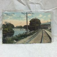 Vintage 1911 Postcard Elkhart River Dam Elkhart Indiana
