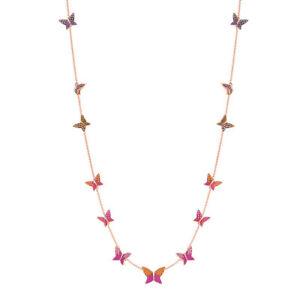 Swarovski Necklace w/ Butterflies LILIA STRANDAGE,  Rose Gold 5374335