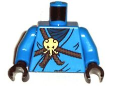 Lego Ninjago Minifigure body Torso Cole BLACK NINJA Minifig Part 2263 9455