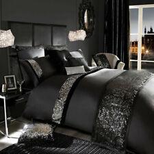 Sequin Design Black Egyptian Cotton/ Glaze Cotton 5 Pc King Size Set