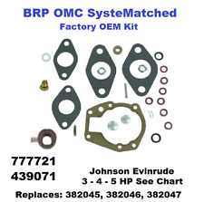 Johnson Evinrude BRP Carburetor Carb Rebuild Kit 3 - 4 - 5 HP 439071 See Chart