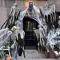 Halloween Skull Hanging Ghost Haunted House Grim Reaper Horror Props Door Decor