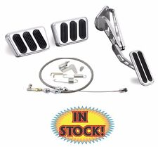 Lokar 1964-68 Mustang Pedal Kit w/ Throttle Cable Set Manual Trans- BAG-6115