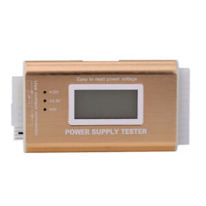 Digital LCD Power Supply Tester Support PC 20/24 Pin 4 PSU ATX Interface Gold