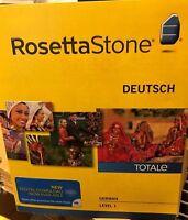 Rosetta Stone LEARN  GERMAN  LEVEL 1  TOTALE  V4 CD SET+ DIGITAL DOWNLOAD