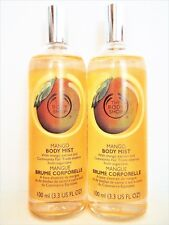 Body Shop MANGO Body Mist with Mango Extract, 3.3 fl. oz/100 mL, NEW x 2