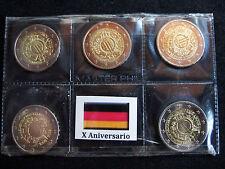 Alemania X Aniversario del Euro - 5 CECAS de 2 euros (2012)