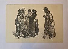 Lithographie, Sans Familles..! - annotée 295/400, A.T. Steinlen, 1916