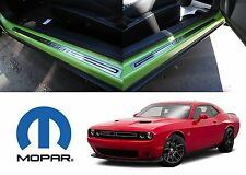 OEM MOPAR Stainless Steel Sill Guards Protectors For 2014-2017 Dodge Challenger