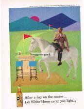 1959 WHITE HORSE Whiskey Geometric Pop Art VTG PRINT AD