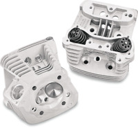 S & S Cycle Natural Super Stock EVO Cylinder Heads 90-1004