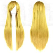 80cm Fashion Full Long Straight Wig Party Costume Anime Hair Cosplay
