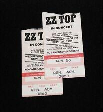 ZZ Top Concert Ticket Stub 9/21/1994 - Lee Civic Center, Ft. Myers, FLA. - RARE