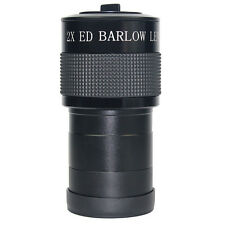 "2inch ED 2x Barlow Lens for Astronomic Telescope + 2"" to 1.25 "" Adapter Black"