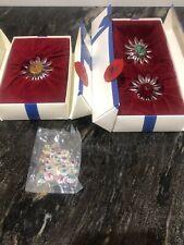 Swarovski Scs Members Flowers 277518 Set Of 3 Large Full Bag Minis Perfect.