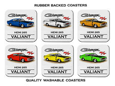 VALIANT  VH  R/T  E38  CHARGER  265 HEMI     SET OF  6   RUBBER DRINK  COASTERS