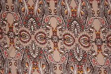 Tans Paisley Jersey Knit Print #136 Rayon Modal Spandex Lycra Fabric BTY