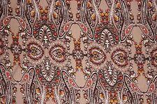 Tans Paisley Jersey Knit Print #136 Rayon Modal Spandex Lycra Fabric BTY