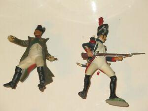 "Papo 3 1/2"" Napoleon Bonaparte and 4 1/2"" Soldier Plastic"
