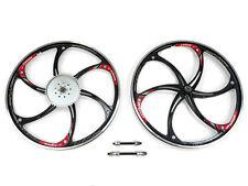 Aluminum Alloy Motorized Bicycle Wheel Set With 44T Sprocket (Black) (HY-22)