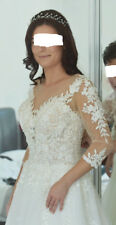 Wedding Dress IVORY size 6-8 Lace Embroidery Pearls