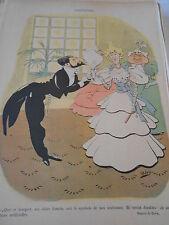 1897 Original Print Caricature Madrigal Un jolie bouquet de fleurs artificielles
