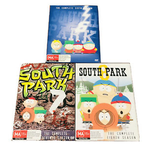 South Park DVD TV Series  Complete Seasons-S6 S7 S8 -With Covers R4 LIKE NEW