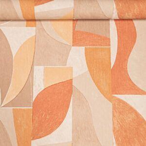 Beige Brown Orange Retro 70s Slight Imperfect Textured Vinyl Wallpaper