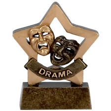 DRAMA TROPHY ENGRAVED FREE COMEDY TRAGEDY MINI STAR ACTOR ACTRESS AWARD TROPHIES