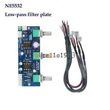 DC 12V-24V Low-pass Filter NE5532 Subwoofer 2.1CH/Pre-Amplifier Preamp Board