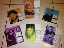 Madonna The Corrs Eric Clapton 1999 Warner Music Taiwan Promo Calendar Card Set