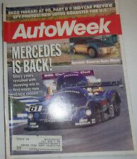 Autoweek Magazine Mercedes & Enzo Ferrari At 90 March 1988 030315r