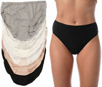 Just Intimates Panties for Women, Tagless and Breathable High Cut Briefs (6