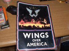 wings concert program-mid 1970s-paul mc cartney-beatles-comic book interest