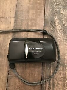 Olympus Stylus Epic Zoom 80 35mm Point and Shoot Camera Black New Battery Works