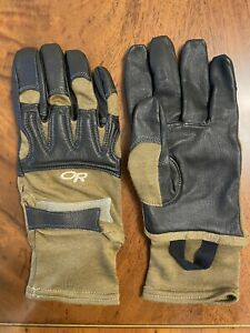 NWOT Outdoor Research OR Rockfall Sensor tactical gloves Sz L made in USA. Nomex