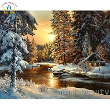 DIY Canvas oil Painting Paint By Numbers Good Morning Kit Include Colours+brush