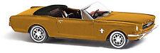 Busch 47511, Ford Mustang Cabrio »Metallica« Braun, H0 Fahrzeug Modell 1:87