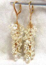 50.15ct Natural Fancy color briolette diamond dangle earrings 18kt grapevine