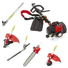 52cc 5 in 1 Petrol Hedge Trimmer Chainsaw Brushcutter Garden Multi Tool