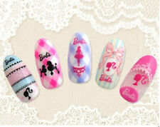 Barbie Doll Dog Bows Water Transfers Nail Art Stickers Decals UV Tips Decoration