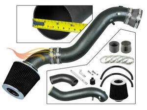 BCP RW GREY For 02-05 TrailBlazer/Envoy/Bravada 4.2L Ram Air Intake Kit+Filter