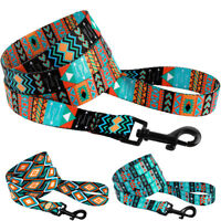 Dog Leash Training Nylon Lead 5ft long for Puppy Pet Small Large Tribal Pattern