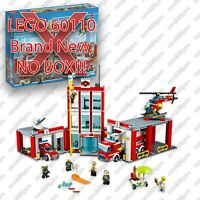 LEGO City #60110 - FIRE STATION - No box, 100% complete sealed bags book sticker