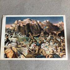 T) Postcard Military Large Format Grenadiers of Sardinia AFRICA COLONIES
