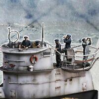 1/35 U-Boat WW2 Crew Kreigsmarine Scale Resin Model Figures Kit (5 Figures)