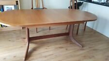 Large Nathan Teak Oval Extending Dining Table, excellent condition.